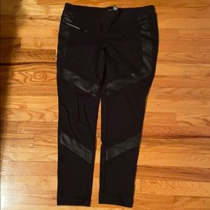 Express cotton / leather legging